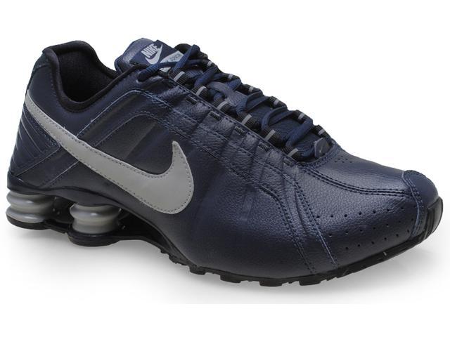 Tênis Masculino Nike 454340-401 Shox Junior Marinho/cinza