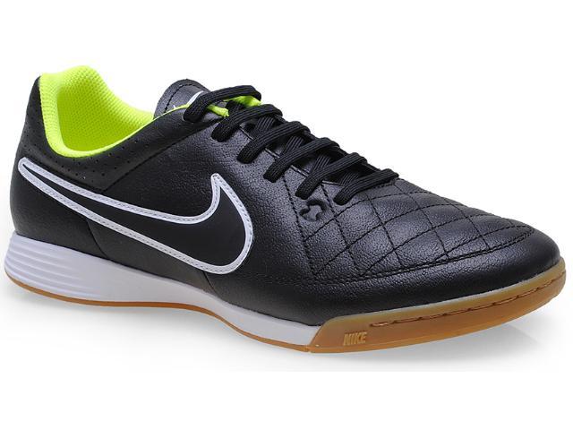 Tênis Masculino Nike 631283-017 Tiempo Genio Leather ic Preto/branco