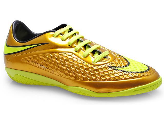 Tênis Masculino Nike 677587-907 Hypervenom Phelon ic Ouro/limão