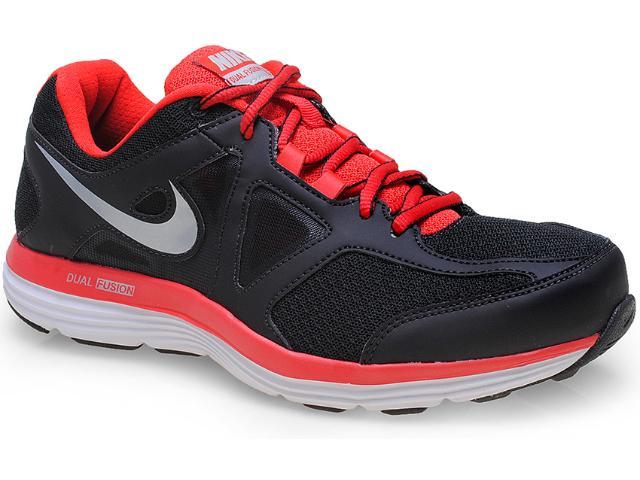Tênis Masculino Nike 642821-006 Dual Fusion Lite 2 Msl  Preto/vermelho
