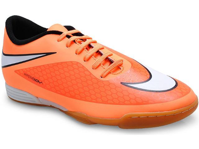 Tênis Masculino Nike 599810-800 Hypervenom Phade ic Laranja Neon/preto