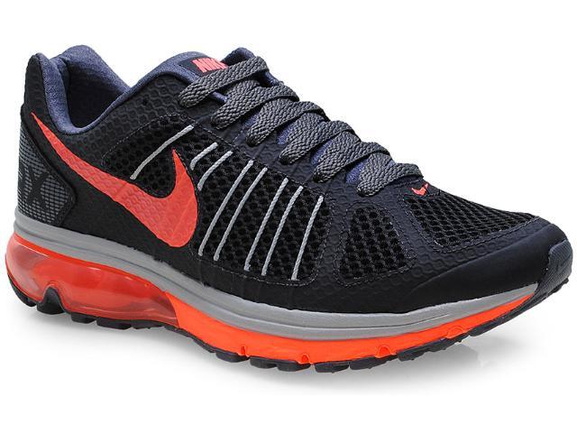 Tênis Masculino Nike 632630-026 Air Max Finale + 2  Preto/laranja Neon