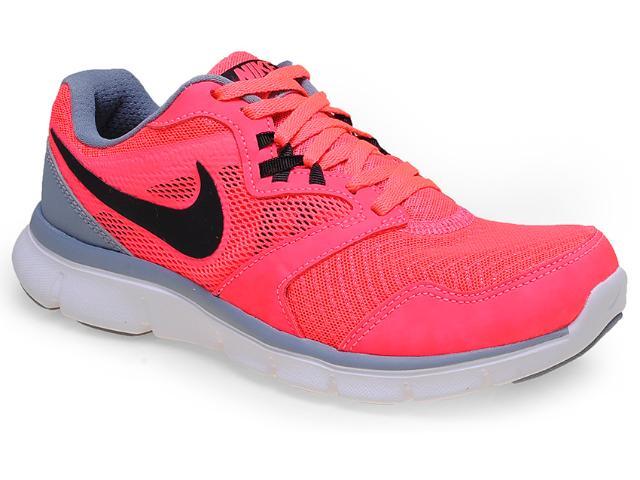 Tênis Feminino Nike 652858-601  Flex Experience rn 3 Rosa Neon/cinza