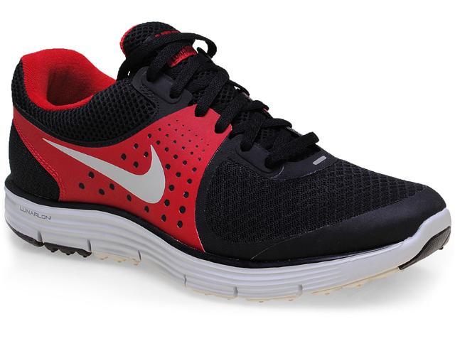 Tênis Masculino Nike 510787-002 Lunarswift+ 4 Preto/vermelho