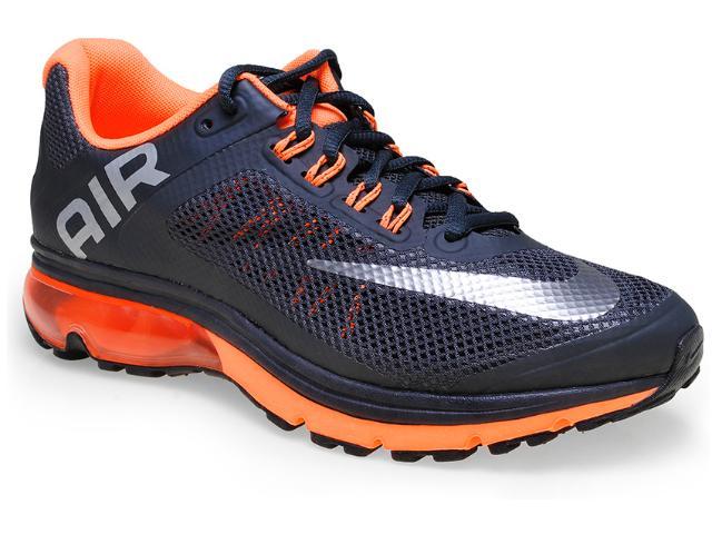 Tênis Masculino Nike 555764-020 Air Max Excellerat Chumbo/laranja