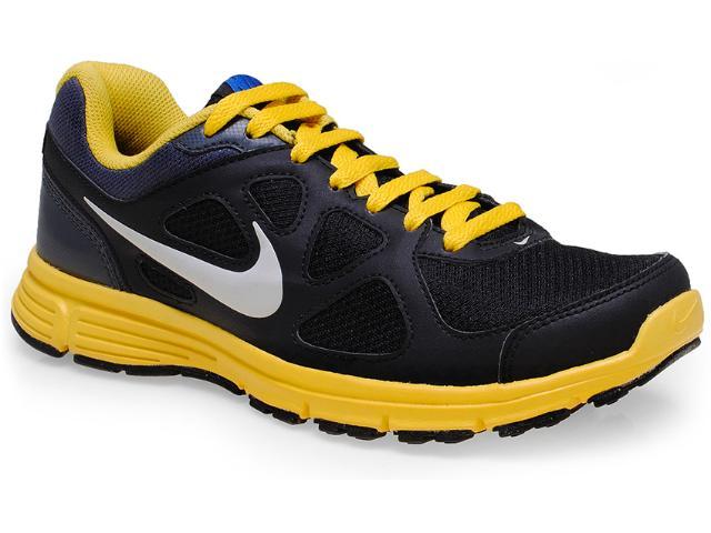 Tênis Masculino Nike 488184-013 Revolution Msl Preto/amarelo