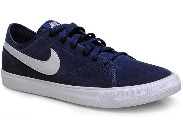Tênis Masculino Nike 644826-409 Primo Court Leather Marinho
