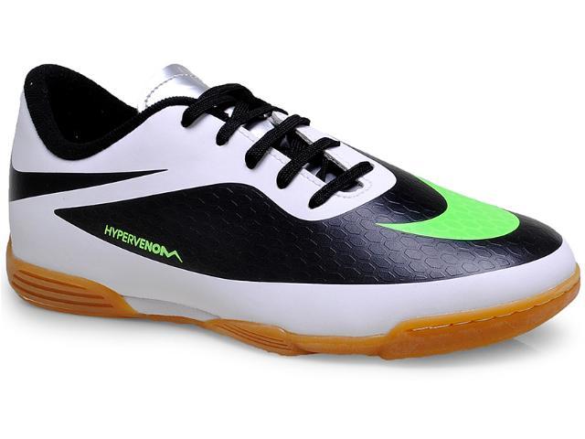 Tênis Masc Infantil Nike 599842-031 Hypervenom Phade ic Branco/preto/limão