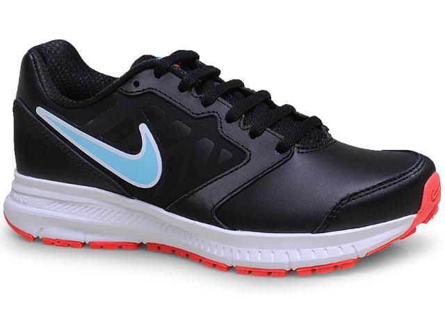 Tênis Feminino Nike 684768-006 Wmns Downshifter 6 Lea Preto/celeste/branco