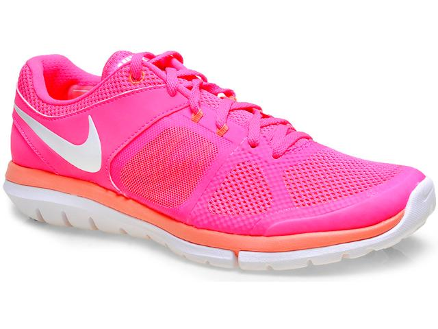 Tênis Feminino Nike 642780-602 Wmns Flex 2014 rn Msl Pink/salmão/branco