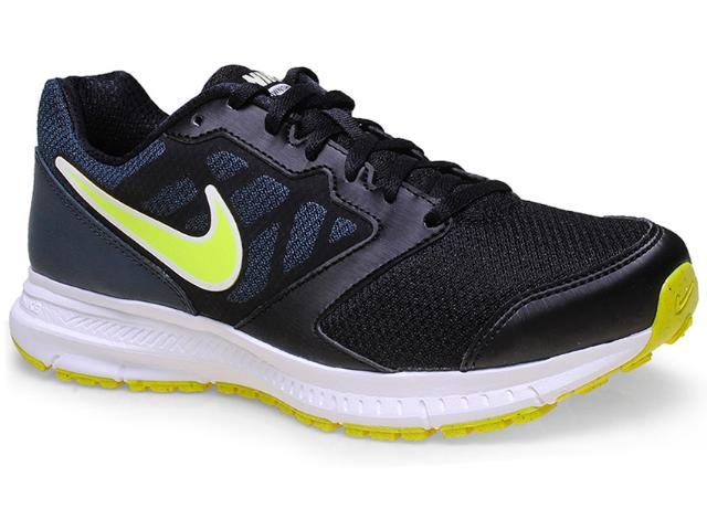 Tênis Masculino Nike 684658-007 Downsfter 6 Msl Preto/limão