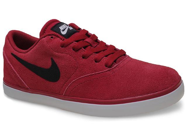 Tênis Masculino Nike 705265-601 sb Check  Vermelho