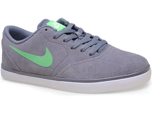 Tênis Masculino Nike 705265-031 sb Check  Cinza/verde