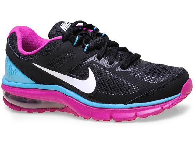 Tênis Feminino Nike 599390-002 Wmns Air Max Defy rn  Preto/roxo/celeste