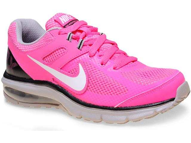Tênis Feminino Nike 599390-600 Wmns Air Max Defy rn Rosa Neon/cinza/preto