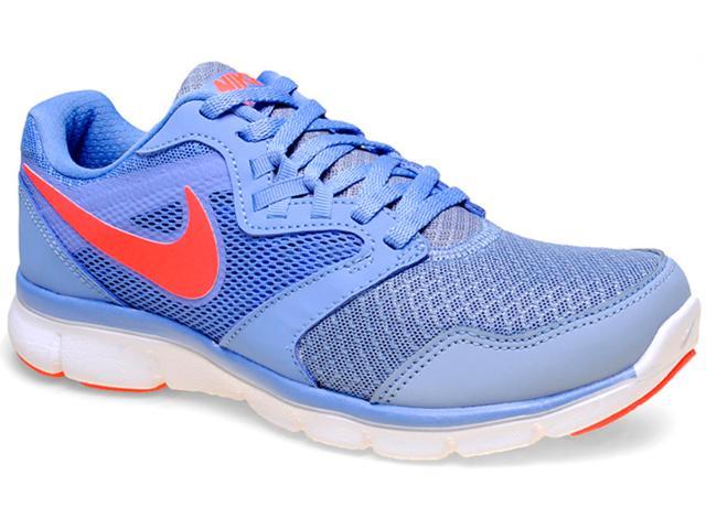 Tênis Feminino Nike 652858-404 Flex Experience rn 3 Msl Azul Claro/branco/coral