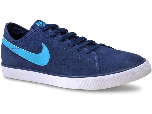 Tênis Masculino Nike 644826-441 Primo Court Leather  Marinho/azul