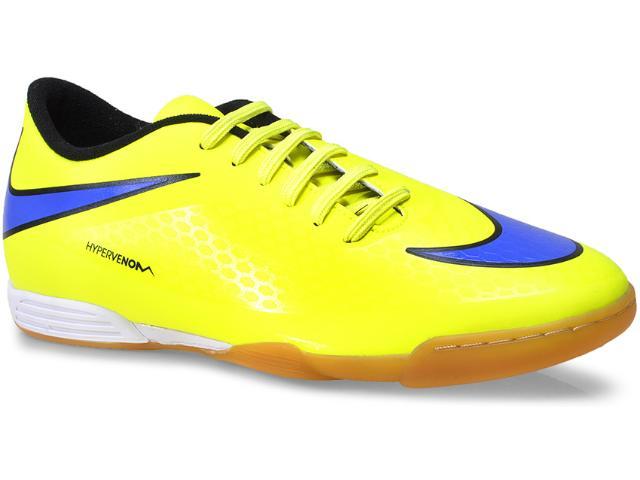 Tênis Masculino Nike 599810-758 Hypervenom Phade ic Amarelo Limão/roxo