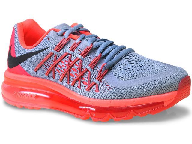 Tênis Feminino Nike 698903-009 Wmns Air Max 2015 Cinza/rosa Neon