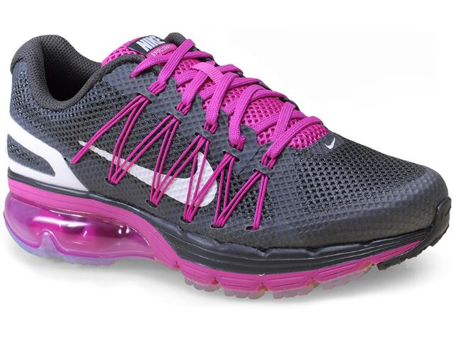 Tênis Feminino Nike 703073-003 Air Max Excellerate 3 Chumbo/violeta