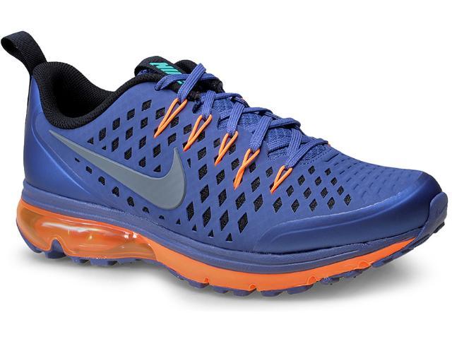 Tênis Masculino Nike 706993-401 Air Max Supreme 3  Azul/laranja