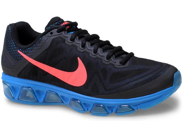 Tênis Masculino Nike 683632-009 Air Max Tailwind 7  Preto/azul