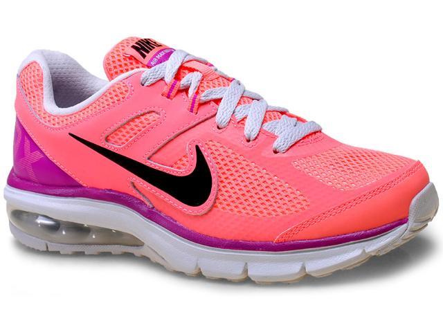 Tênis Feminino Nike 599390-602 Wmns  Air Max Defy rn Laranja Neon/roxo