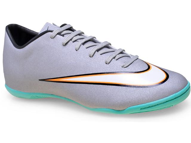 Tênis Masculino Nike 684875-003 Victory v ic  Prata/verde Agua