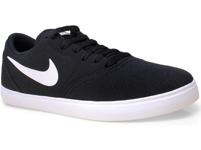 Tênis Masculino Nike 705268-001 sb Check Cnvs  Preto/branco