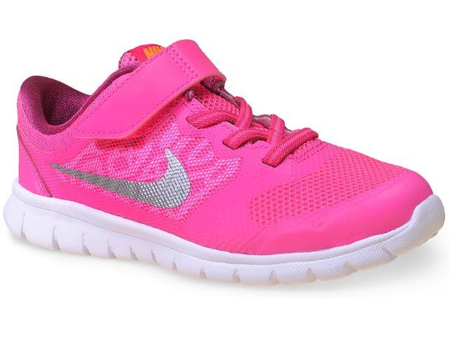 Tênis Fem Infantil Nike 724994-601 Flex 2015 rn  Rosa