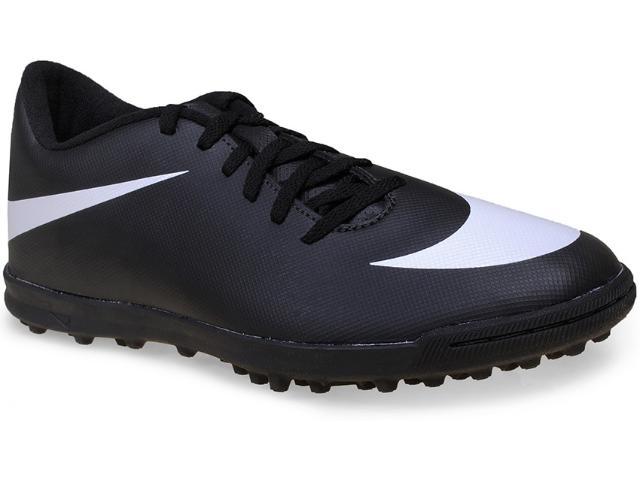 Tênis Masculino Nike 768917-011 Bravata tf  Preto/branco