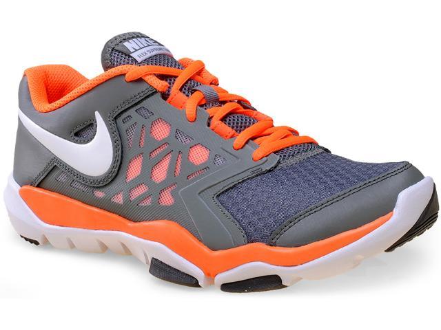 Tênis Masculino Nike 749165-003 Flex Supreme tr 4 Grafite/laranja