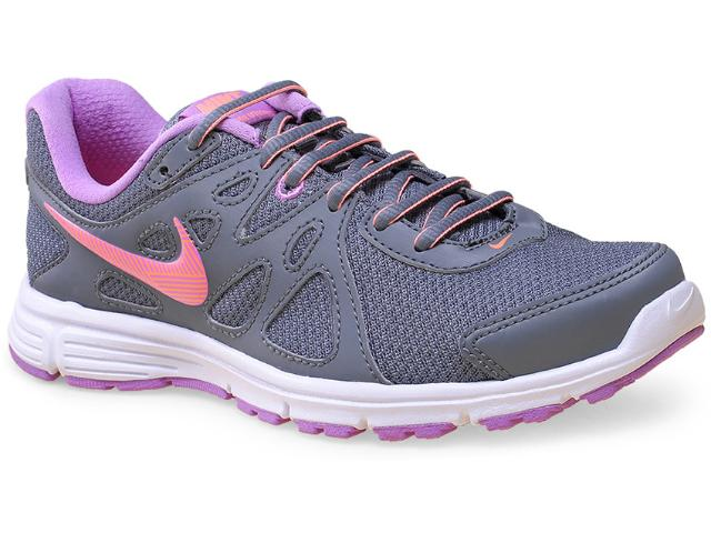 Tênis Feminino Nike 554901-034 Revolution 2 Msl  Cinza/lilas