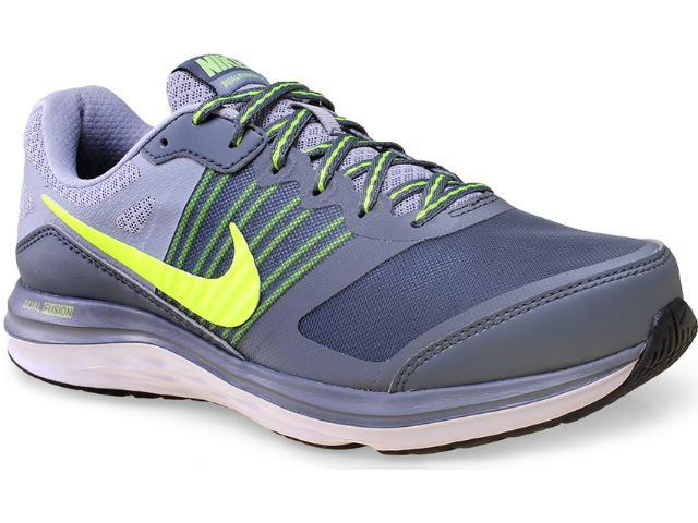 Tênis Masculino Nike 724466-009 Dual Fusion x Msl  Cinza/limão