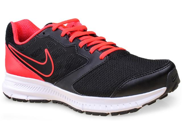 Tênis Masculino Nike 684658-017 Downshifter 6 Msl  Preto/coral
