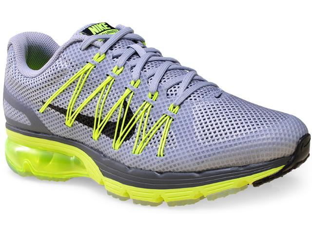 Tênis Masculino Nike 703072-006 Air Max Excellerate 3  Cinza/limão