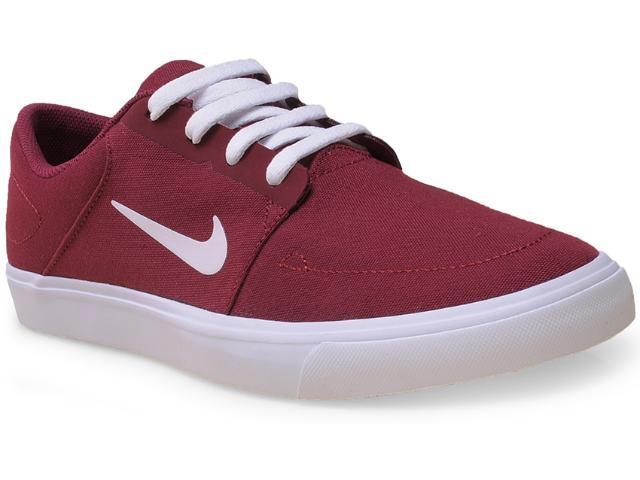 Tênis Masculino Nike 723874-611 sb Portmore Cnvs  Bordo/branco