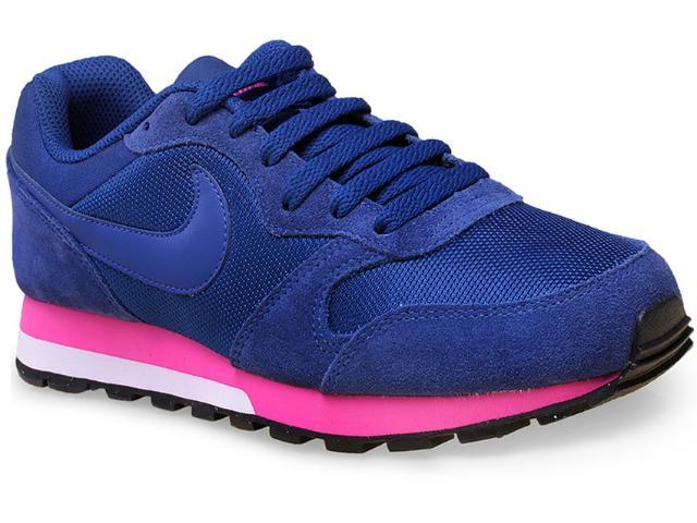 Tênis Feminino Nike 749869-446 Wmns md Runner 2  Royal/pink