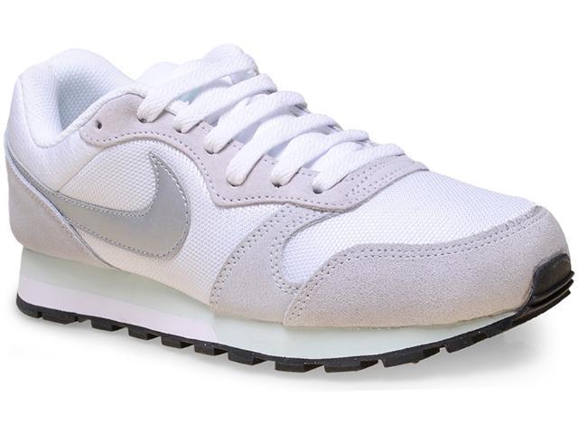 Tênis Feminino Nike 749869-103 Wmns md Runner 2  Branco/cinza