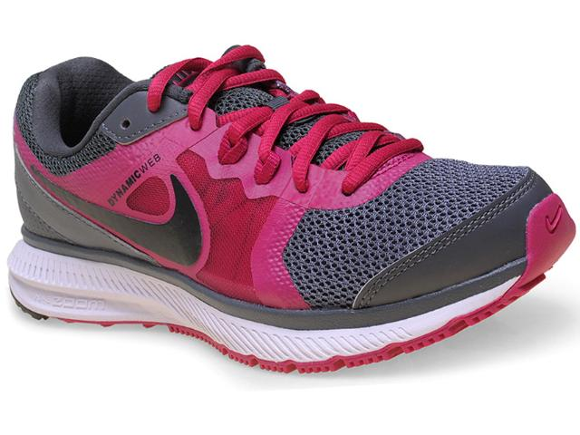 Tênis Feminino Nike 725159-015 Wmns Zoom Winflo Msl Cinza Escuro/pink