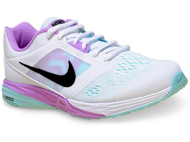 Tênis Feminino Nike 749175-101 Wmns Tri Fusion Run Msl  Branco/rosa/verde