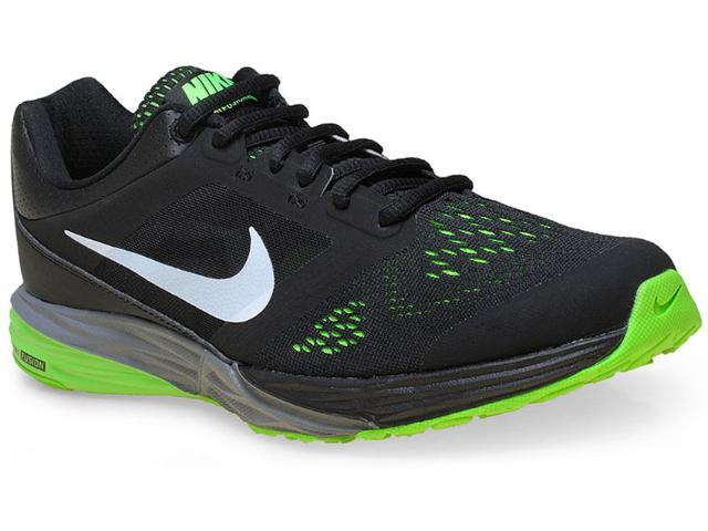 Tênis Masculino Nike 749171-007 Tri Fusion Run Msl  Preto/verde