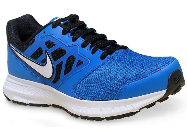 Tênis Masculino Nike 684658-410 Downhifter 6 Msl  Azul/branco/preto