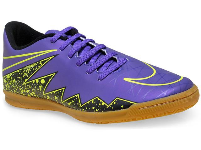 Tênis Masculino Nike 749890-550 Hypervenom Phade ii ic Roxo/verde