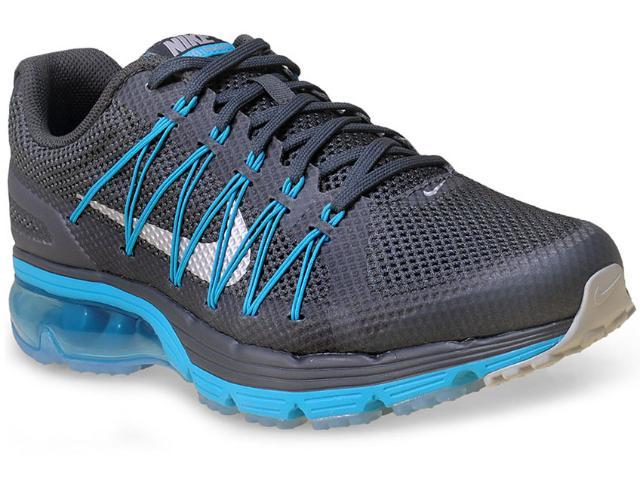 Tênis Masculino Nike 703072-014 Air Max Excellerate 3  Chumbo/azul