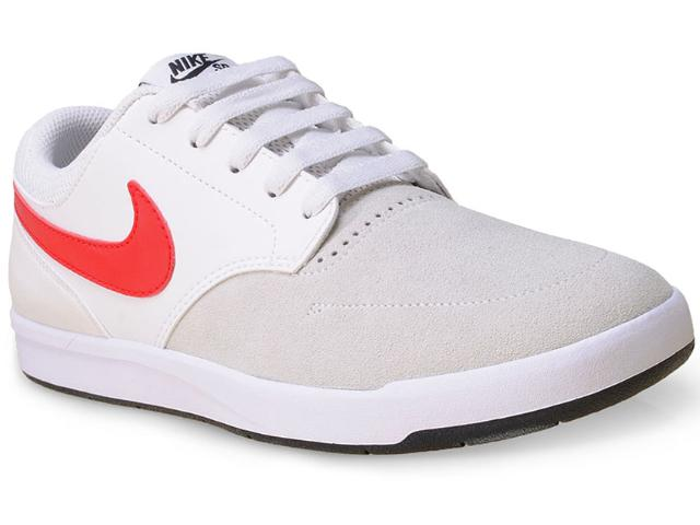 Tênis Masculino Nike 749477-160 sb Fokus  Gelo/branco/vermelho