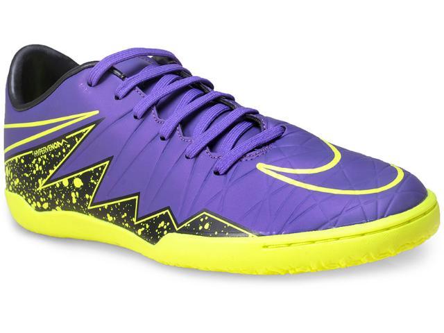 Tênis Masculino Nike 749898-550 Hypervenom Phelon ii ic  Roxo/verde