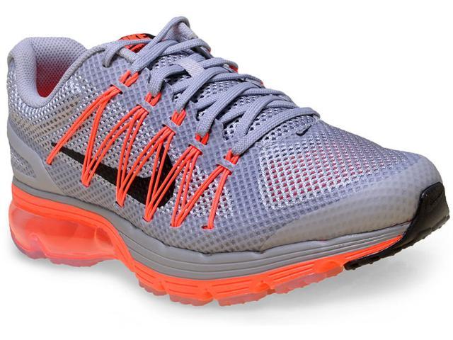 Tênis Masculino Nike 703072-018 Air Max Excellerate 3  Cinza/laranja Neon