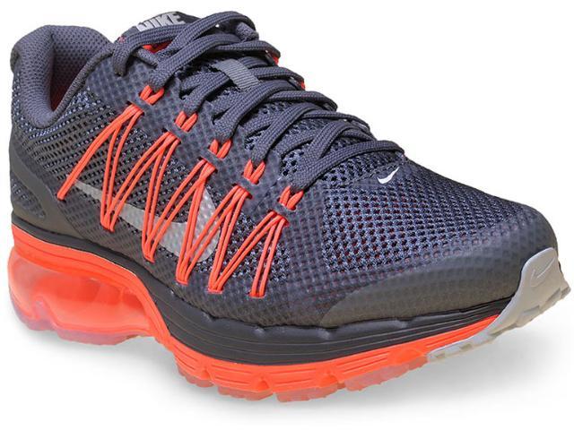 Tênis Feminino Nike 703073-018 Wmns Air Max Excellerate 3  Grafite/laranja