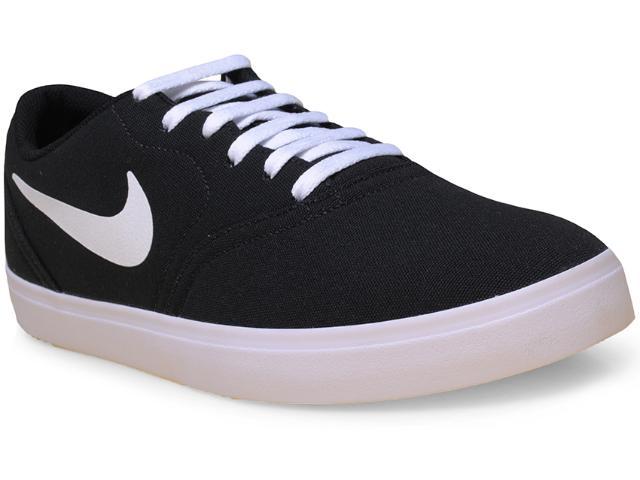Tênis Masculino Nike 705268-010 sb Check Cnvs Preto/branco